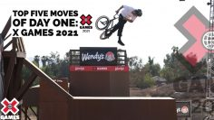 TOP 5 BMX MOVES OF DAY 1 COUNTDOWN   X Games 2021